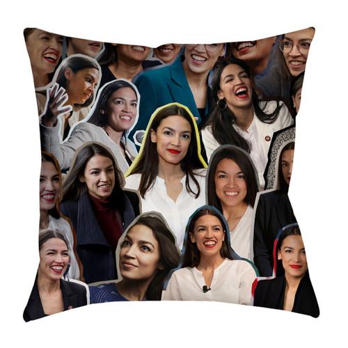Alexandria Ocasio-Cortez Photo Collage Pillowcase