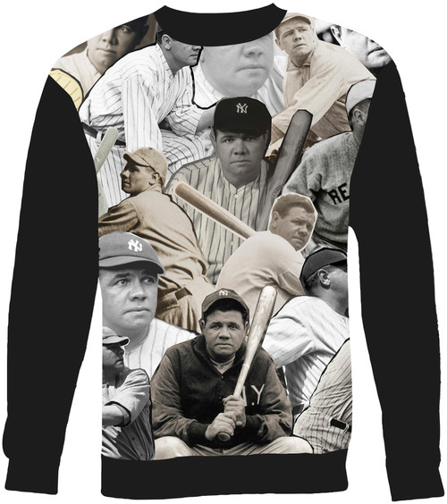 Babe Ruth Collage Sweater Sweatshirt