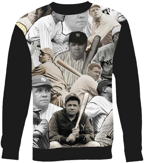 Babe Ruth Collage Sweater Sweatshirt