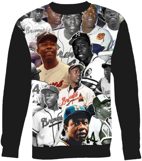 Hank Aaron Collage Sweater Sweatshirt