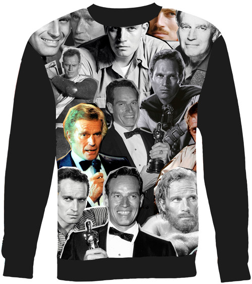 Charlton Heston Collage Sweater Sweatshirt