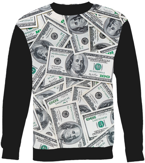 100 Dollar Bill sweatshirt
