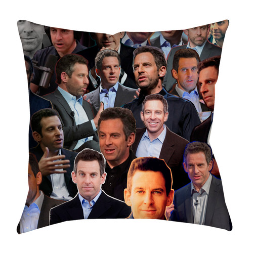 Sam Harris Photo Collage Pillowcase