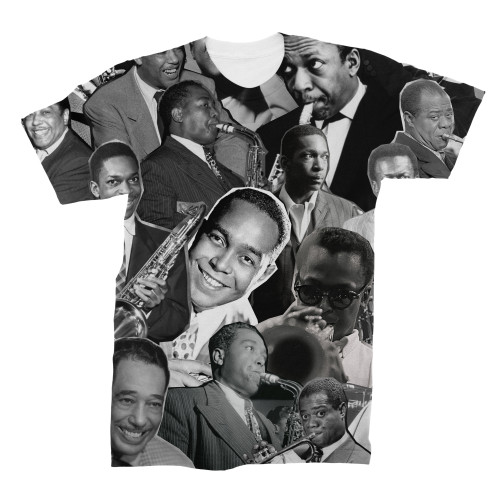 Jazz Legends (Miles Davis, Charlie Parker, John Coltrane, Louis Armstrong & Duke Ellington) tshirt