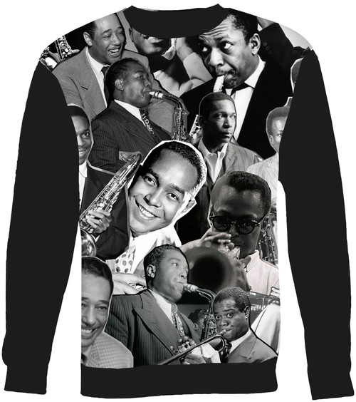 Jazz Legends (Miles Davis, Charlie Parker, John Coltrane, Louis Armstrong & Duke Ellington) sweatshirt