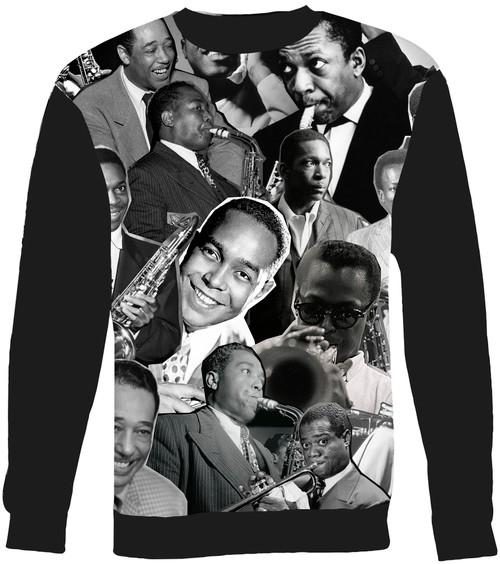 Jazz Legends (Miles Davis, Charlie Parker, John Coltrane, Louis Armstrong & Duke Ellington) sweatshirt