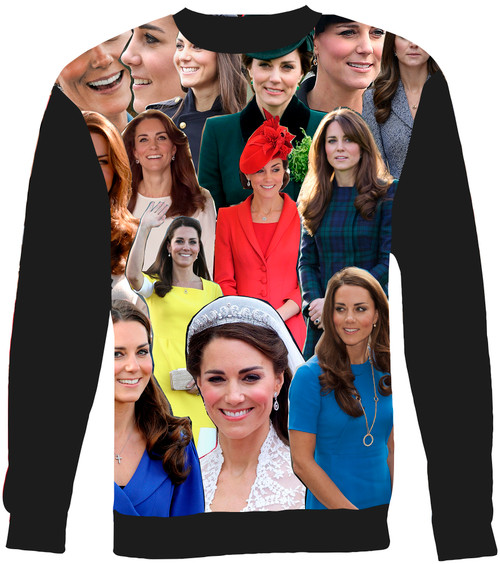 Catherine Duchess of Cambridge - Kate Middleton Collage Sweater Sweatshirt
