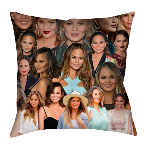 Chrissy Teigen Photo Collage Pillowcase