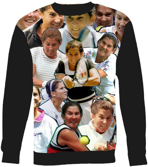 Monica Seles Collage Sweater Sweatshirt