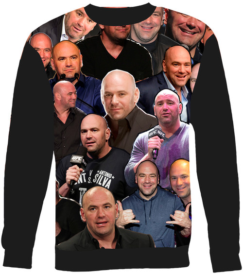 Dana White Collage Sweater Sweatshirt