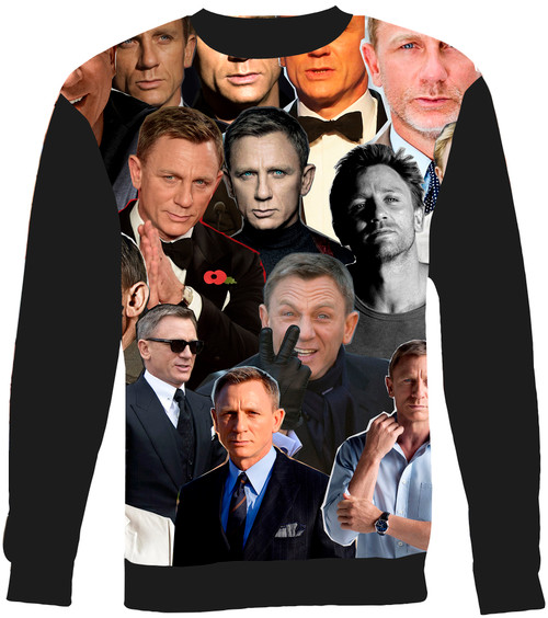 Daniel Craig Collage Sweater Sweatshirt