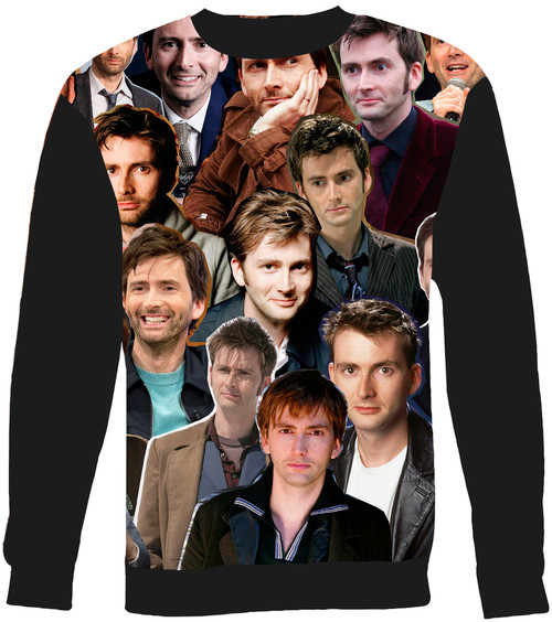 David Tennant Collage Sweater Sweatshirt