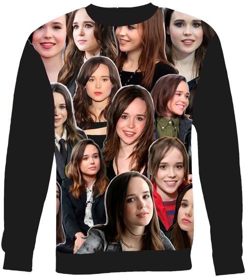 Ellen Page Collage Sweater Sweatshirt