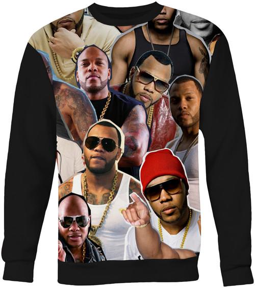 Flo Rida Collage Sweater Sweatshirt