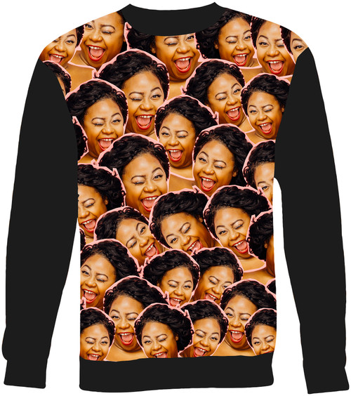 Custom Face Photo Sweater Sweatshirt