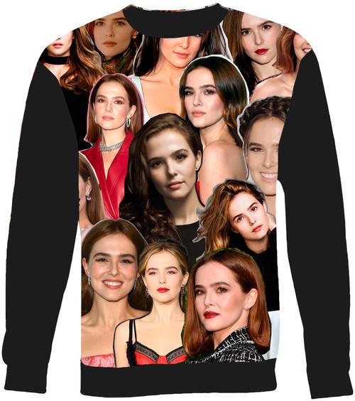 Zoey Deutch Collage Sweater Sweatshirt