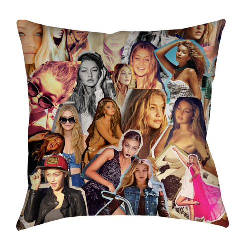 Gigi Hadid Photo Collage Pillowcase