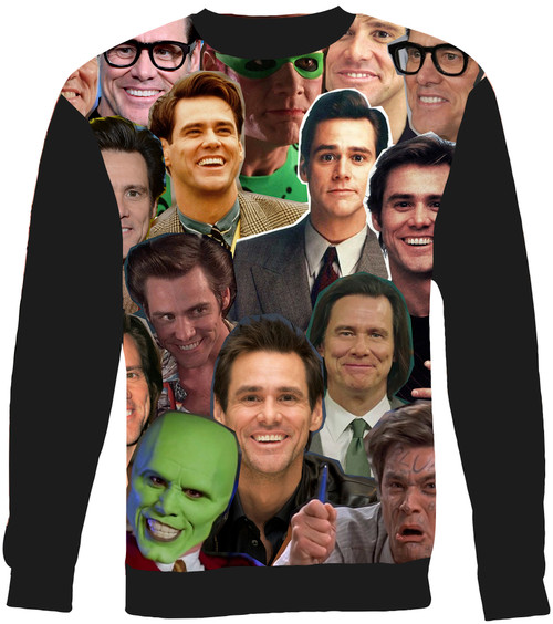 Jim Carrey Collage Sweater Sweatshirt
