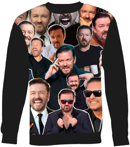 Ricky Gervais Collage Sweater Sweatshirt