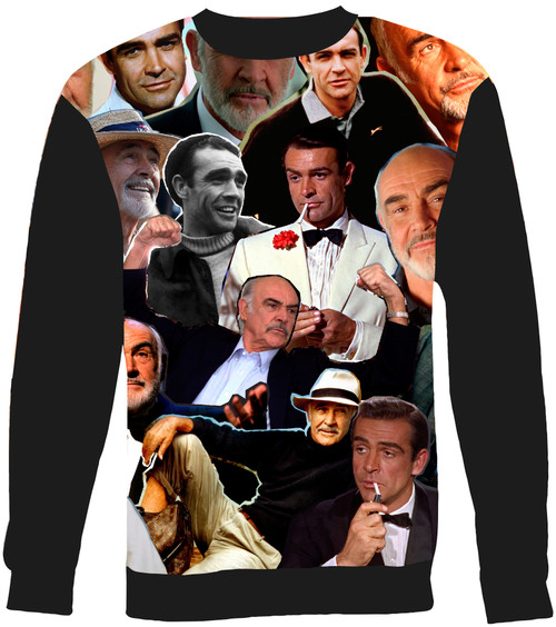 Sean Connery Collage Sweater Sweatshirt