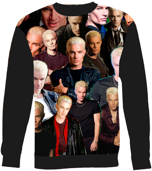 Spike Buffy The Vampire Slayer Collage Sweater Sweatshirt