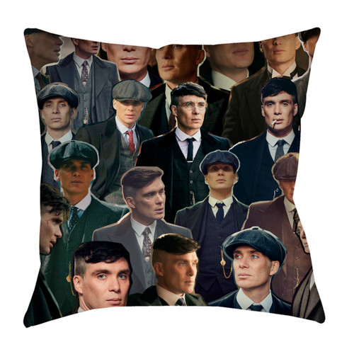 Thomas Shelby Peaky Blinders Photo Collage Pillowcase