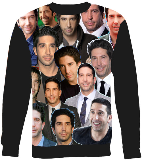 David Schwimmer Collage Sweater Sweatshirt