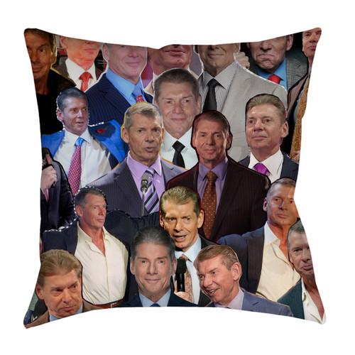Vince McMahon Photo Collage Pillowcase