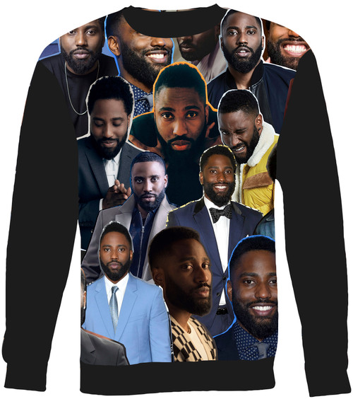 John David Washington Collage Sweater Sweatshirt