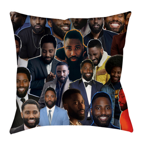 John David Washington Photo Collage Pillowcase