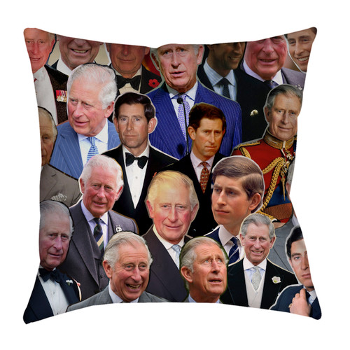 Prince Charles Photo Collage Pillowcase