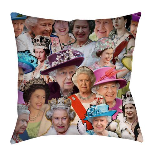 Queen Elizabeth II Photo Collage Pillowcase