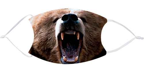 Growling Bear Face Mask with Filters