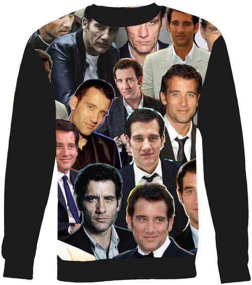 Clive Owen Collage Sweater Sweatshirt