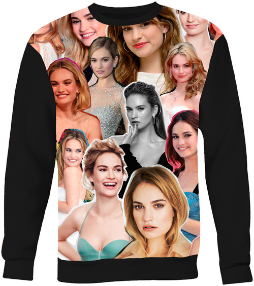 Lily James sweatshirt