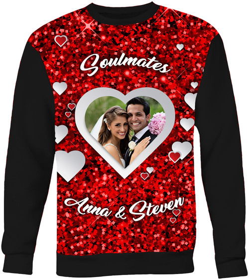 Custom Valentine's Day All Over Print sweatshirt