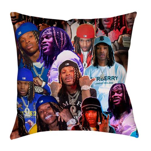 King Von Photo Collage Pillowcase