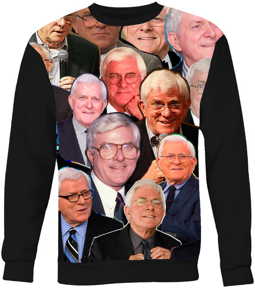 Phil Donahue Collage Sweater Sweatshirt