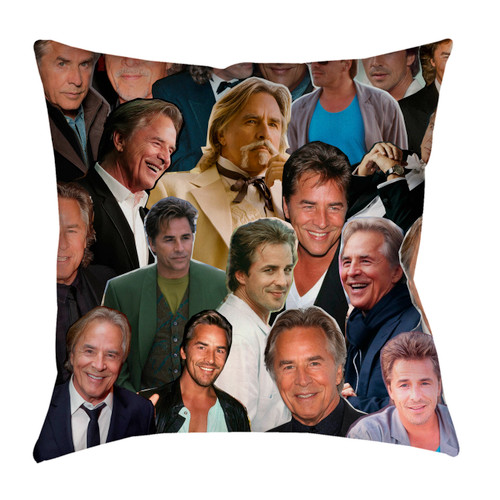 Don Johnson Photo Collage Pillowcase