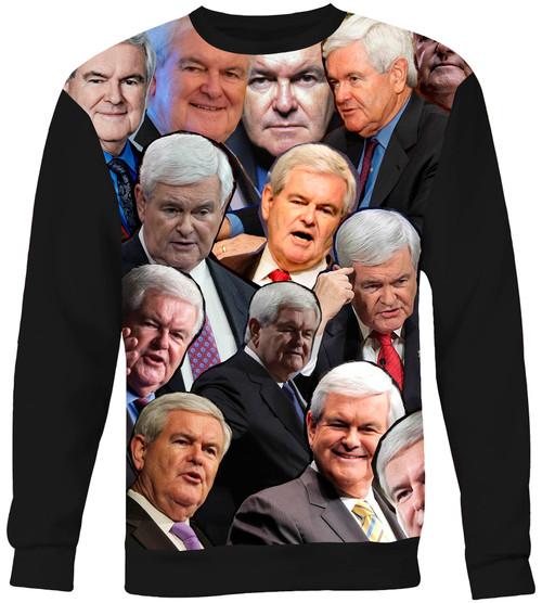 Newt Gingrich Collage Sweater Sweatshirt