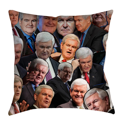 Newt Gingrich Photo Collage Pillowcase