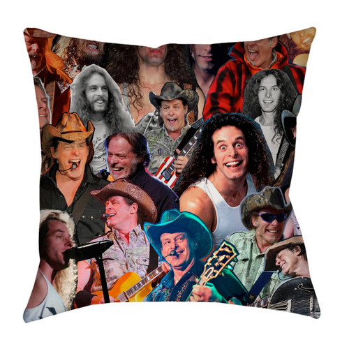 Ted Nugent Photo Collage Pillowcase