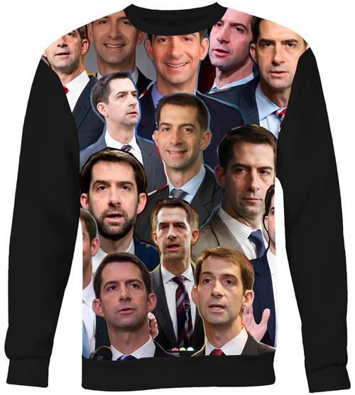 Tom Cotton Collage Sweater Sweatshirt