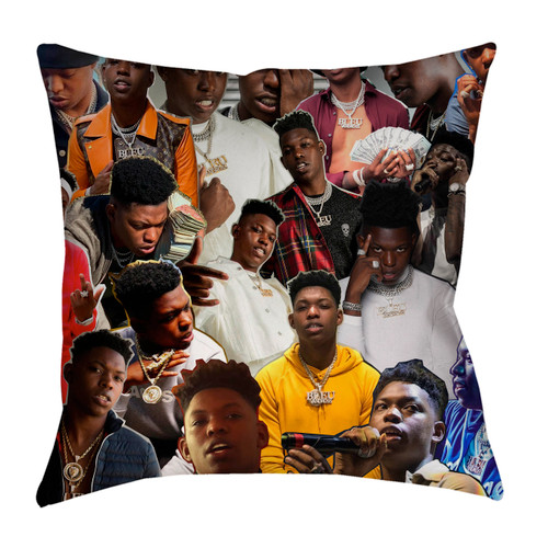 Yung Bleu Photo Collage Pillowcase