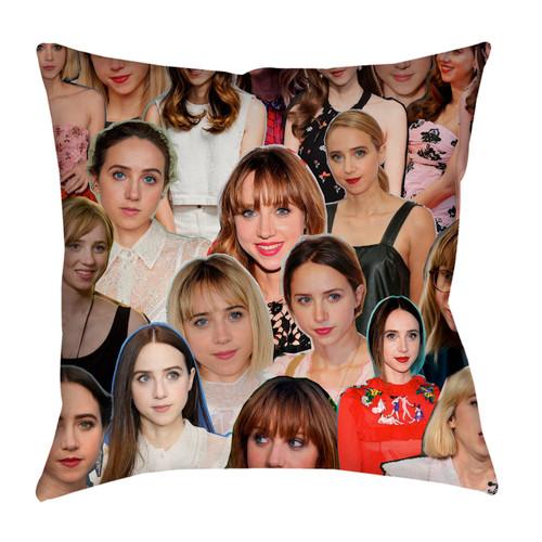 Zoe Kazan Photo Collage Pillowcase