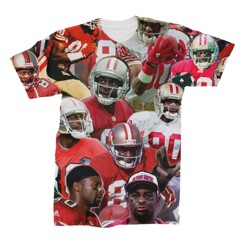 Jerry Rice Photo Collage T-Shirt