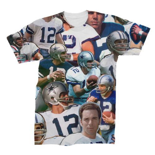 Roger Staubach Photo Collage T-Shirt