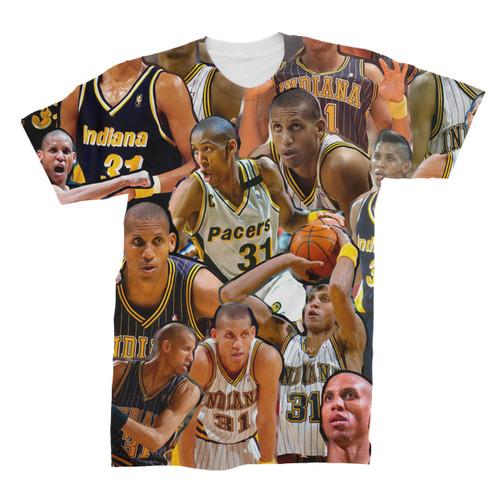 Reggie Miller Photo Collage T-Shirt Front