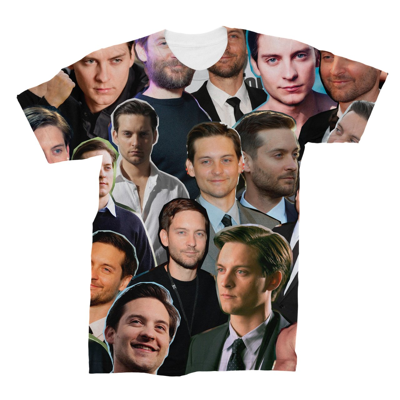 d4bb5a362115c7 Tobey Maguire Photo Collage T-Shirt