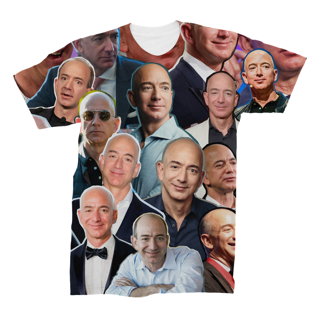 efc6de663700cd Jeff Bezos Photo Collage T-Shirt - Subliworks